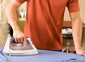 man_ironing